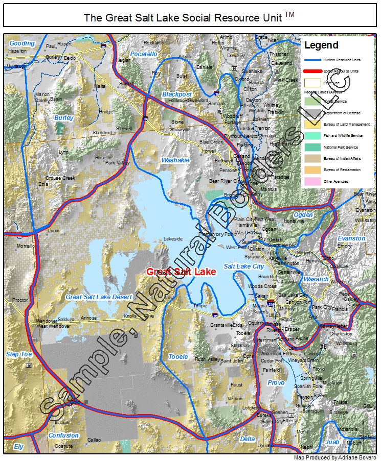 Great Salt Lake Map Social Resource Units Of The Western USA - Map of usa with lakes