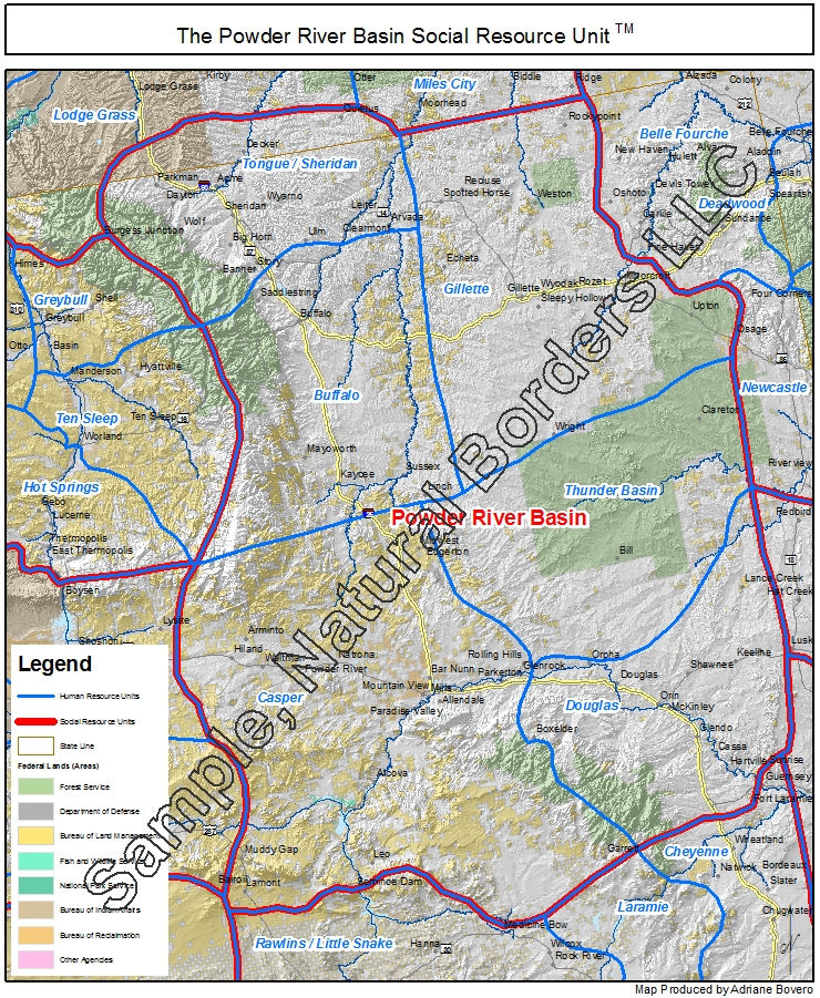 Platte River Basin map - Social Resource Units of the Western USA