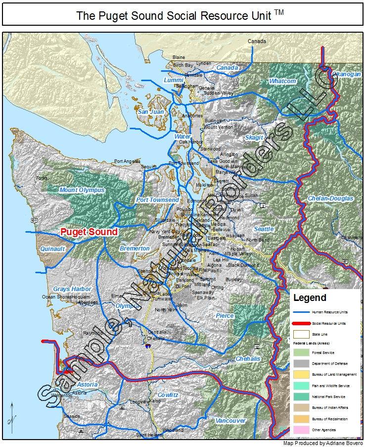 Puget Sound Map Social Resource Unit